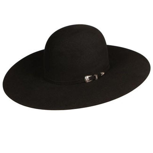 e8bade2a0d9  319.99  309.99 Atwood Black Felt Open Crown Cowboy Hats