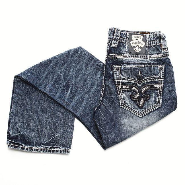 95c10d11 Rock Revival Men's Dillon Straight Jeans