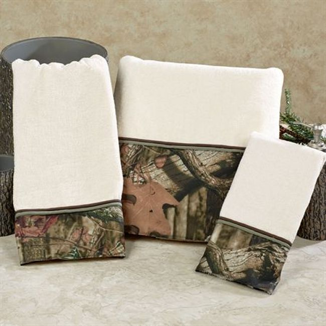 $57.99 Mossy Oak Break Up Infinity Camo Bath Towel Set   Mossy Oak Break Up  Infinity Bath Towel Set, Bath Hand Fingertip