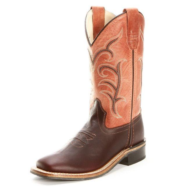 d514af40 $79.99 $69.99 Old West Youth Square Toe Dark Brown Cowboy Boots