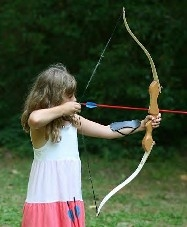 The archery skills used in shooting at targets encourage fitness and comaraderie
