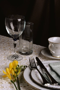 Get ready to set your table for a party or a romantic dinner for two.