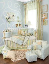 Let your imagination go wild when decorating the nursery