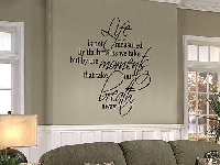 Unusal concepts in interior design: decorating with famous, inspirational quotes