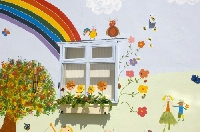 Helpful tips and suggestions on what kids need to paint a wall mural