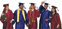 Use good sense when selecting what to wear under a cap and gown
