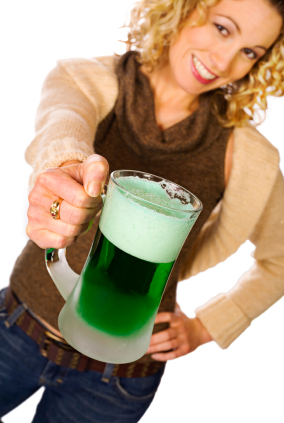 What is green beer? It's simply beer that has been colored for St. Patty's Day!