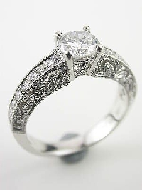 Unusual and unique engagement rings are very popular for one-of-kind brides