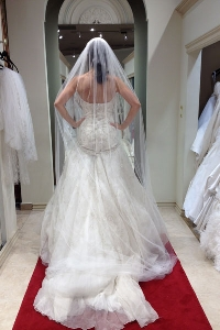 When to choose your wedding dress is up to you, but the sooner the better
