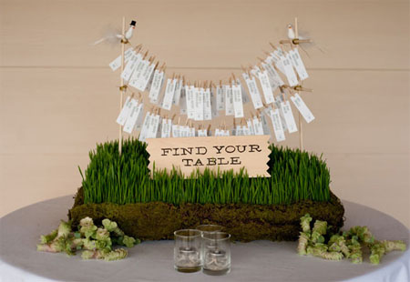 Organize wedding seating cards in a clear, beautiful way