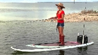 If you're coordinated and adventuresome, try stand up paddle board fishing!