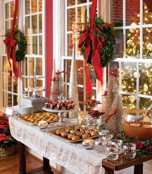Use your imagination in displaying traditional sweets for the holidays