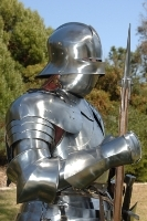 Did knights just wear armor for protection? Was there another reason?