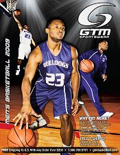 Picture of custom basketball uniforms from Basketball by GTM Sportswear catalog