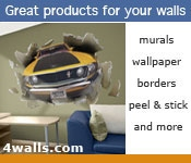 Picture of wall paper murals from 4Walls catalog