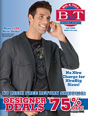 Picture of big and tall t shirts from B&T Factory Direct catalog