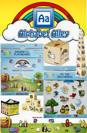 Picture of Christian puzzles from Alphabet Alley catalog