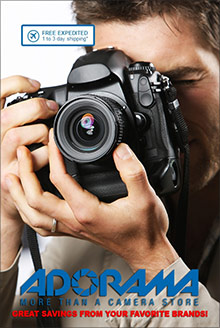 Picture of camera catalog from Adorama Camera catalog