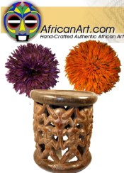 Picture of African masks from AfricanArt.com catalog
