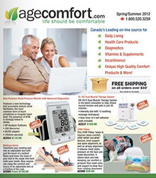Picture of independent living aids from AgeComfort catalog