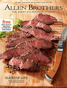 Picture of mail order steaks from Allen Brothers catalog