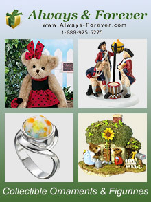 Picture of waterford ornaments from Always & Forever Gifts & Collectibles catalog