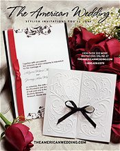 Picture of affordable wedding invitations from The American Wedding catalog