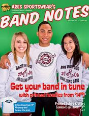 Picture of marching band apparel from Band Notes - Band and Orchestra Clothing catalog