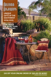 Picture of travel to Arizona from Arizona Highways catalog