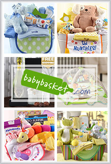 Picture of baby gift baskets from babybasket.com catalog