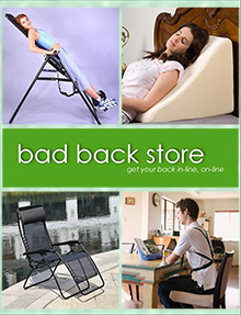 Picture of back pain store from Bad Back Store catalog