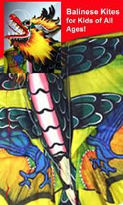 Picture of kite store from Balinesekites.com catalog