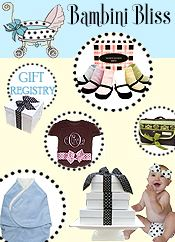 Picture of personalized baby items from Bambini Bliss catalog