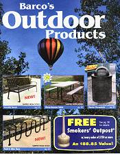 Picture of outdoor commercial furniture from Barco Products catalog