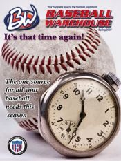 Picture of baseball equipment from Baseball Warehouse catalog