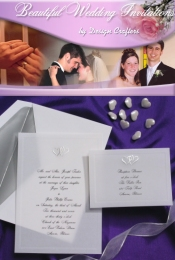 Picture of wedding invitation samples from Beautiful Wedding Invitations catalog