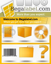 Picture of labels from BegaLabel.com B2B catalog