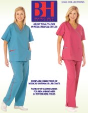 Picture of discount medical scrubs from Beverly Hills Uniform catalog
