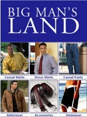 Picture of big and tall clothing from Big Man's Land catalog
