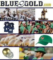 Picture of Notre Dame merchandise from Blue Gold Traditions catalog