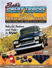 Picture of Chevy truck parts catalog from Bob's Chevy Trucks (1947-1972) catalog