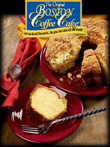 Picture of boston coffee cake from Boston Coffee Cake catalog