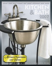 Picture of antique hardware from Antique Hardware Kitchen & Bath  catalog