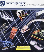 Picture of home theater wiring from CableOrganizer.com - All Inclusive Catalog catalog
