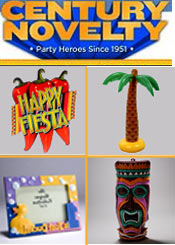 Picture of birthday party decorations from Century Novelty catalog