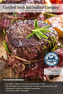Picture of certified steak and seafood from Certified Steak and Seafood Company catalog