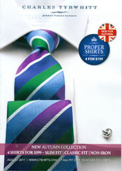 Picture of men's dress shirts from Charles Tyrwhitt Shirts catalog