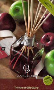 Picture of scented candles from Claire Burke catalog