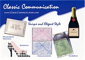 Picture of printable invitations from Classic Communication catalog