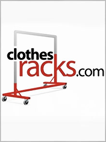 Picture of rolling garment racks from ClothesRacks.com catalog